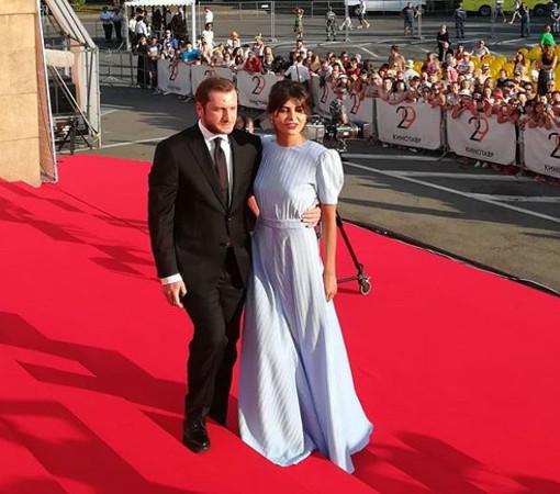 Бывший муж Нади Михалковой и режиссер Резо Гигинеишвили с Надеждой Оболенцевой