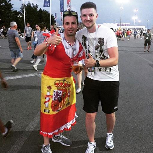 Болельщик сборной Испании
