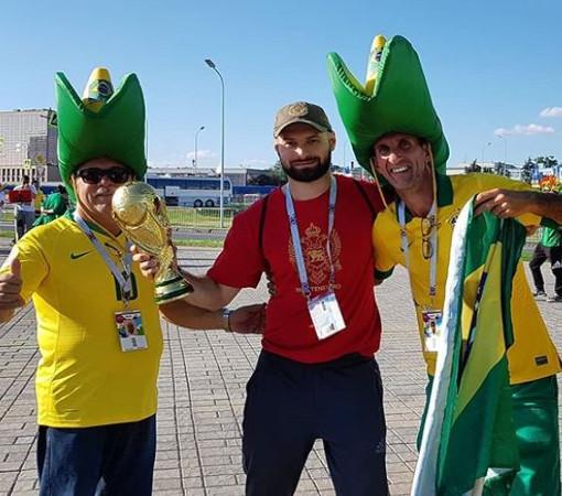 Матч Бразилия-Сербия в Москве