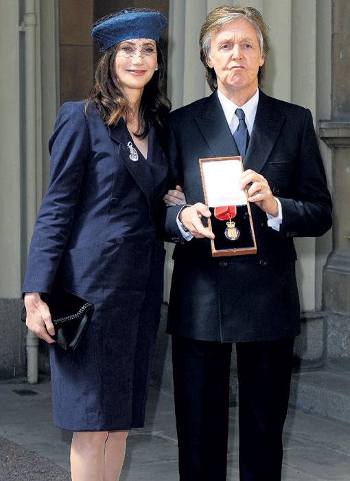 Сэр Пол и его жена Нэнси