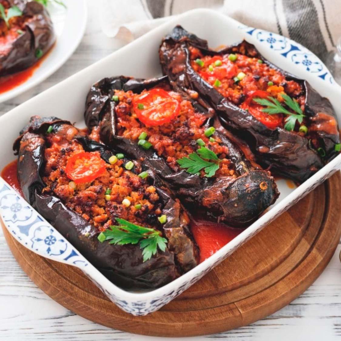Рецепт из книги: «Баклажаны, фаршированные мясом»