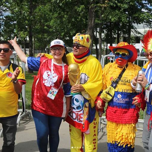 Фанаты сборной Колумбии
