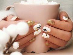Новогодний дизайн ногтей. Фото: instagram.com/nail.lizok