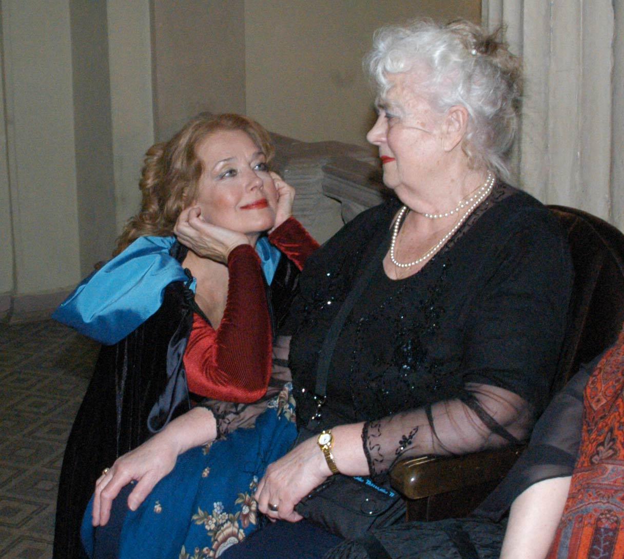 Ирина Алферова с матерью Ксенией Архиповной. Фото Пааты Арчвадзе