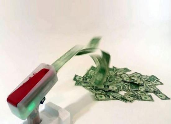 Машинка для разбрасывания денег