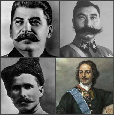 Пётр 1, Сталин, Чапаев и Будённый