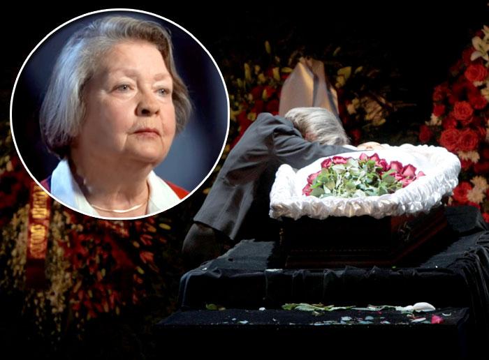 У гроба мужа Жанна Андреевна не сдерживала эмоций. Фото Руслана Вороного и из личного архива