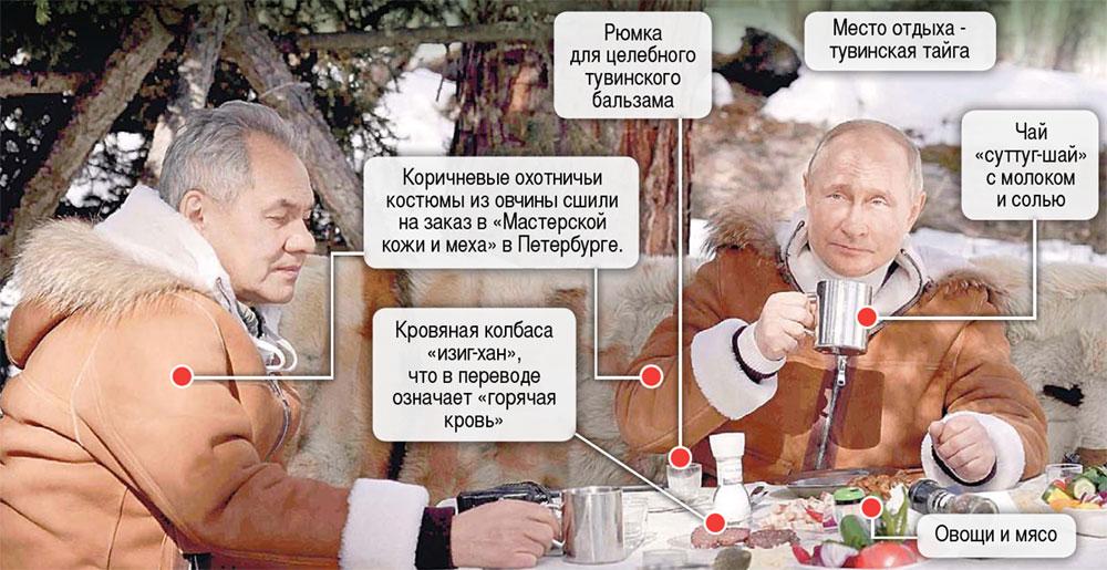 Владимир Путин вместе с министром обороны РФ Сергеем Шойгу посетили Южную Сибирь. Фото: © Reuters