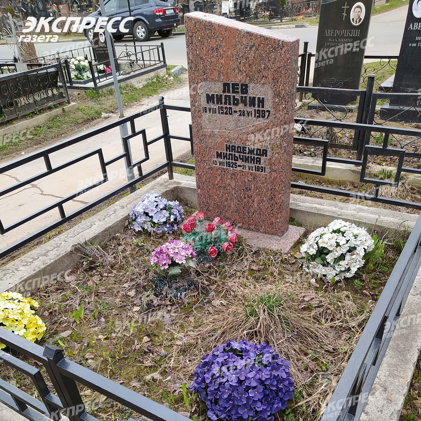 Могила мультипликатора Льва Мильчина. Фото: «Экспресс газета»