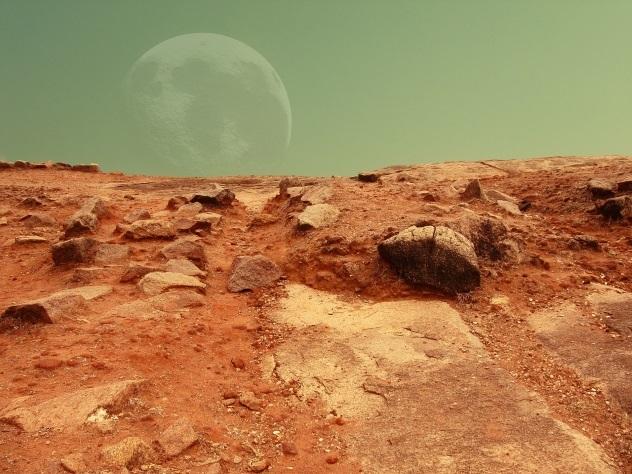 На Марсе нашли много замороженной воды