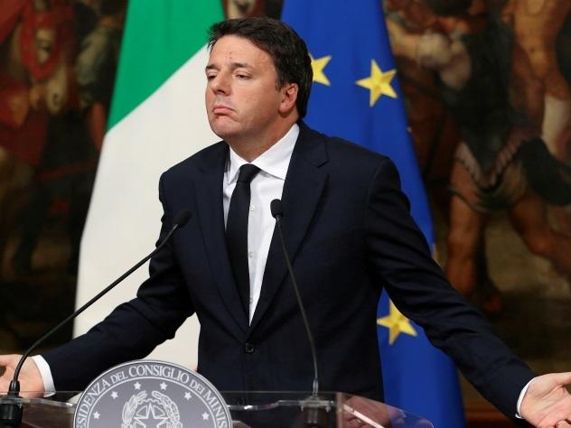 Премьер-министр Италии Маттео Ренци подал в отставку