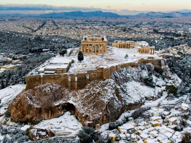 В греческие Салоники пришли рекордные морозы