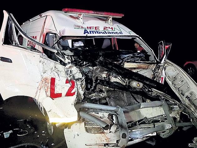 Водитель скорой попал в реанимацию после столкновения с бегемотом