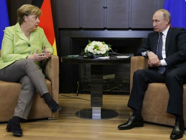 Меркель приехала в резиденцию Путина в Сочи
