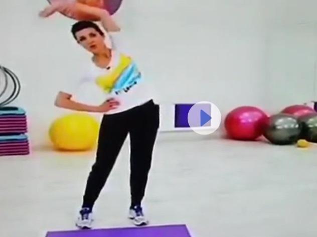 Жена Порошенко провела телевизионную зарядку