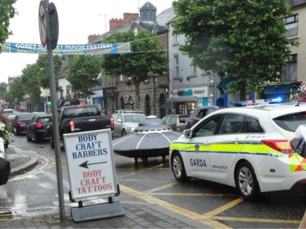 Вирландском Гори полицейские устроили погоню за«НЛО»