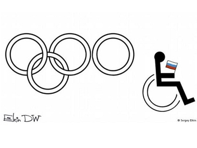 Москвичи провели акцию против германской карикатуры на русских паралимпийцев