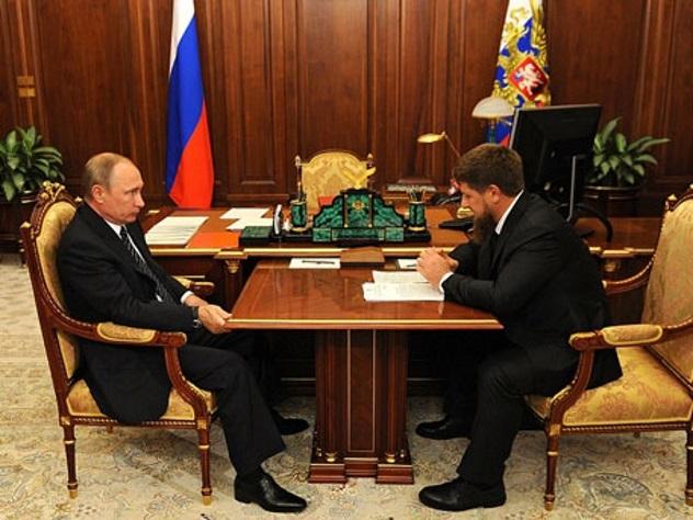 Ночная встреча В.Путина иКадырова состоялась вКремле