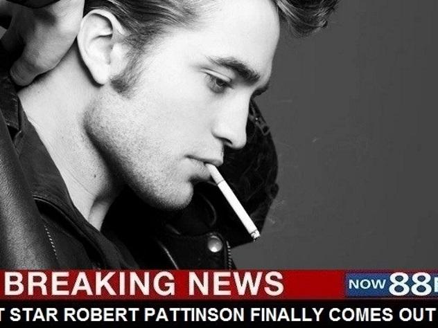 Фанатки рыдают от горя: Роберт Паттинсон признался, что он гей