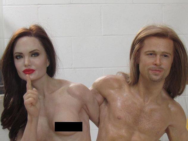 Голых Джоли и Питта пустят с <a href=
