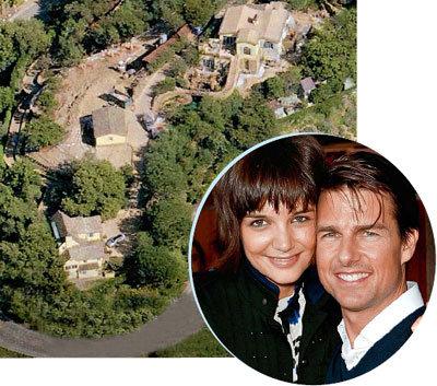 Кэти ХОЛМС и Том КРУЗ используют поместье в Голливуд-Хиллз для особых случаев