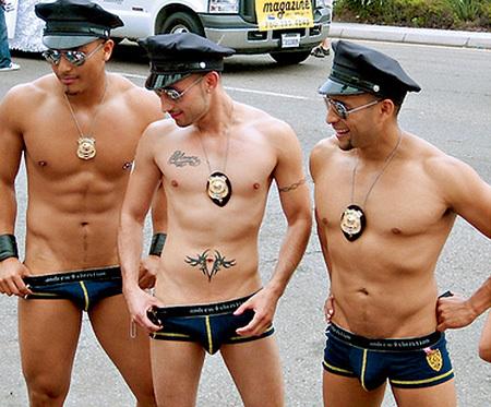 Полиция порно гей