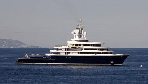 Яхта АБРАМОВИЧА Luna. Фото Splash