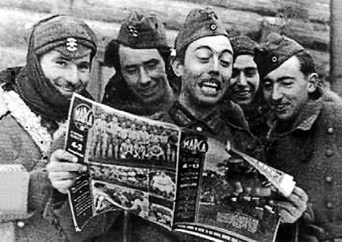 Почти 20 000 добровольцев из Испании, формально соблюдавшей нейтралитет, воевали на стороне ГИТЛЕРА. Специально для них была изготовлена медаль, которую ветераны продолжали носить после войны