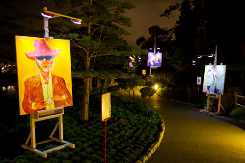 Ночная экспозиция в Саду Грейс Келли