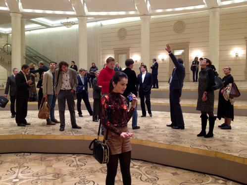Сати КАЗАНОВА на экскурсии по Большому театру
