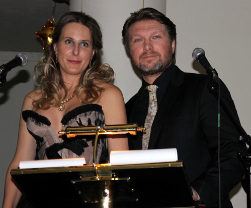 Вели вечер Егор ПАЗЕНКО с супругой