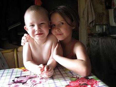 домашний с сестрой