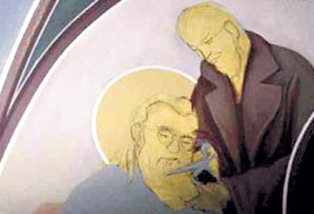 Греческая фреска с Ильичем и Лукой