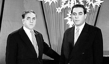 Лев МИРОВ и Марк НОВИЦКИЙ в 50 - 60-е годы вели самые престижные концерты и телепрограммы