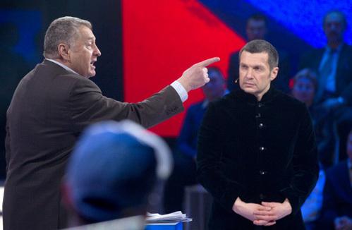ЖИРИНОВСКИЙ обрушился на ПУГАЧЁВУ в прямом эфире ток-шоу СОЛОВЬЁВА