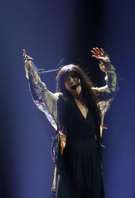 Лорин из Швеции с самого начала была одной из главных фавориток конкурса.
