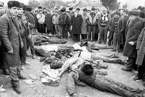 Армянские погромы в Баку январь 1990г