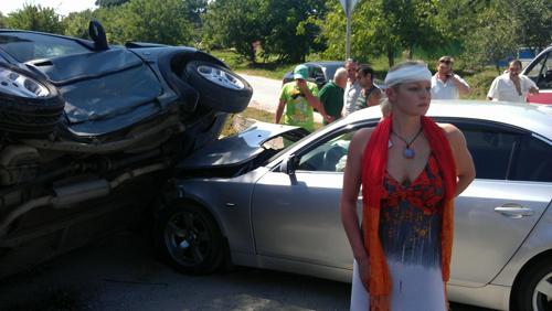 Анастасия ВОЛОЧКОВА попала в аварию.