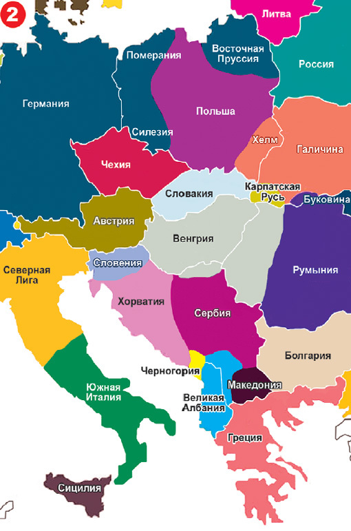Karta Evropy 2035 Ukraina Bez Galichiny I Donbassa Rossiya Bez