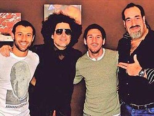 (Слева на право) Хавьер МАСКЕРАНО, Андреас КАЛАМОРО, Лионель МЕССИ и Даниэль РОХО. Фото: publico.es