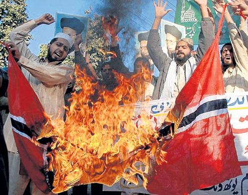 За сожжённый государственный флаг Норвегии этих мусульман даже не пожурили