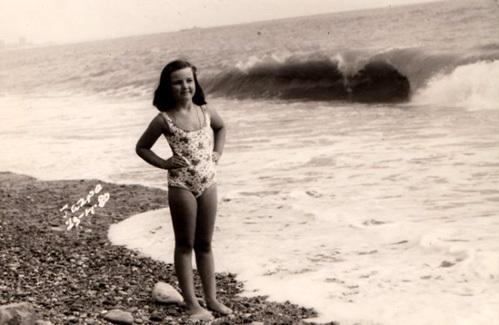 Валерия ЛЕВИТИНА в Гаграх в 1980 году