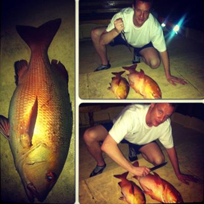 Вячеслав МАЛАФЕЕВ с пойманной рыбой