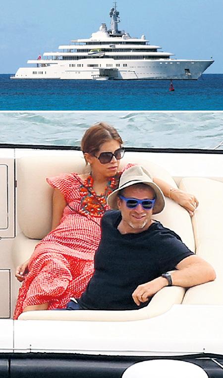 Беременная вторым ребёнком Даша ЖУКОВА большую часть времени проводила с олигархом на его 162,5-метровой яхте «Eclipse» («Затмение»), где её не доставали глупыми расспросами