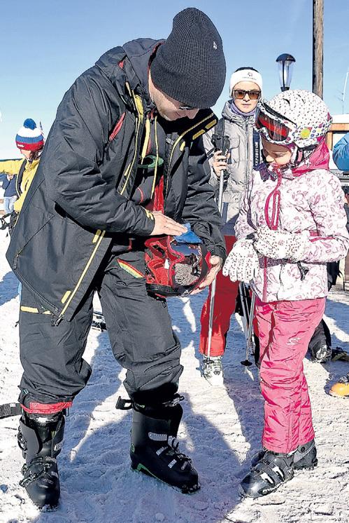 Руслан БАЙСАРОВ покорял Куршевель с дочерью Дали