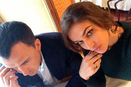 Алёна ВОДОНАЕВА с мужем Алексеем (фото из Твиттера телеведущей)