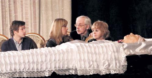 Внука, дочь и вдову покойного утешал Василий ЛИВАНОВ