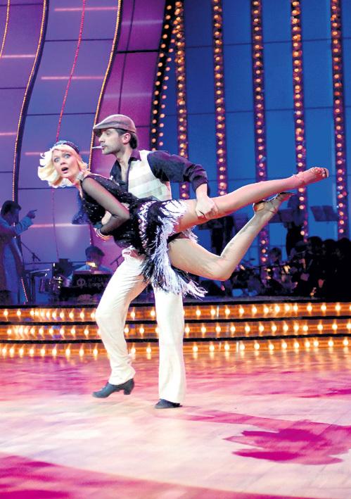 С Яном ГАЛЬПЕРИНЫМ в телешоу «Танцы со звёздами». Фото: «ИТАР-ТАСС»