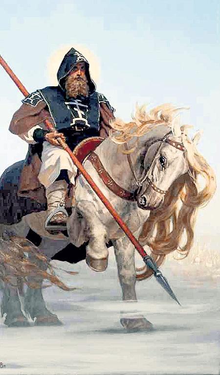 ПЕРЕСВЕТ отправился на войну с благословения Сергия РАДОНЕЖСКОГО и одолел «непобедимого» татарского богатыря ЧЕЛУБЕЯ