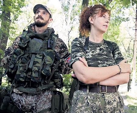 Оксана ГРИНЕВА защищает родную землю от бандерлогов. Фото Эллы ПЕЛЛЕГРИНИ/News Corp Австралия